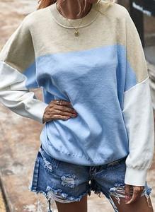 Niebieski sweter Cikelly w stylu casual