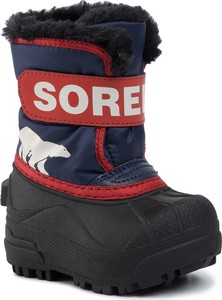Granatowe buty dziecięce zimowe Sorel