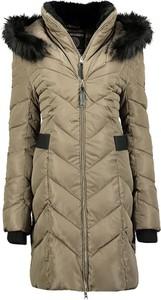 Brązowy płaszcz Geographical Norway w stylu casual