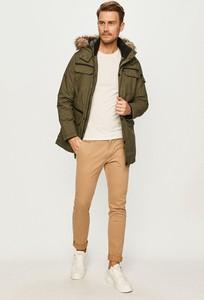 Brązowy płaszcz męski PRODUKT by Jack & Jones w stylu casual