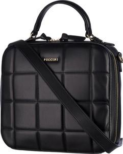 Czarna torebka PUCCINI pikowana