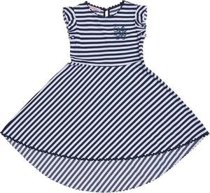 Niebieska sukienka dziewczęca Miss Blumarine w paseczki