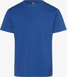 T-shirt Nils Sundström z bawełny w stylu casual z krótkim rękawem