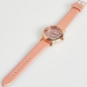 Sinsay - Zegarek z ozdobną tarczą - Różowy