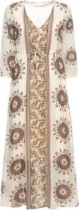Sukienka bonprix RAINBOW z dekoltem w kształcie litery v maxi