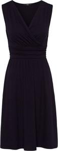 Czarna sukienka Zero mini bez rękawów