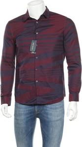 Czerwona koszula Polo Villae z długim rękawem