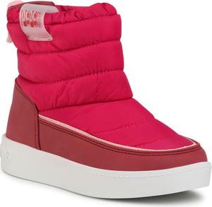 Czerwone buty dziecięce zimowe Pepe Jeans