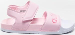 Różowe sandały Adidas w sportowym stylu