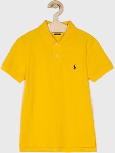 Żółta koszulka dziecięca POLO RALPH LAUREN z dzianiny