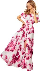 Sukienka NUMOCO z odkrytymi ramionami hiszpanka w stylu boho