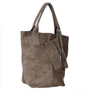 Brązowa torebka Borse in Pelle w wakacyjnym stylu ze skóry