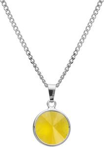 GIORRE Srebrny naszyjnik z naturalnym kamieniem - chalcedon, srebro 925 : Długość (cm) - 40 + 5 , Kamienie naturalne - kolor - chalcedon żółty , Srebro - kolor pokrycia - Pokrycie platyną