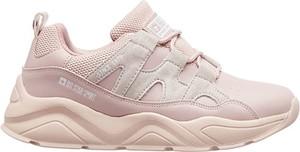 Różowe buty sportowe Big Star sznurowane