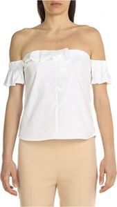 Bluzka Pinko z okrągłym dekoltem z krótkim rękawem