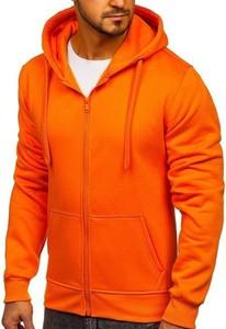 Pomarańczowa bluza Denley z bawełny