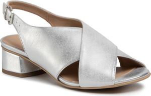 Srebrne sandały Edeo ze skóry w stylu casual