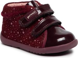 Czerwone buty dziecięce zimowe GARVALIN na rzepy