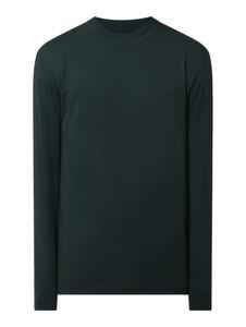T-shirt Ragman w stylu casual z bawełny z długim rękawem