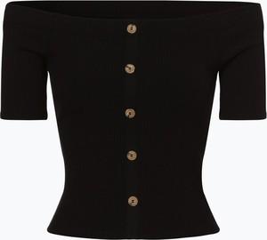 Czarny t-shirt Review z dżerseju w stylu casual