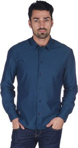 Niebieska koszula Pepe Jeans z długim rękawem z klasycznym kołnierzykiem