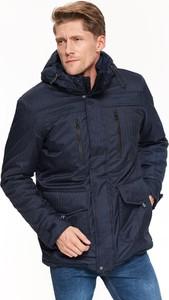 Granatowa kurtka Top Secret z tkaniny w stylu casual