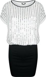 Sukienka Fracomina Sukienka z krótkim rękawem z tkaniny w stylu glamour