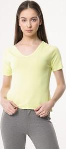 Zielona bluzka born2be z krótkim rękawem z dzianiny