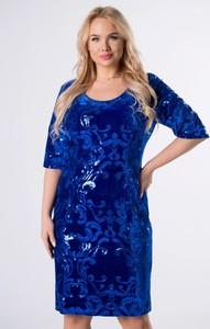 Niebieska sukienka Manumo