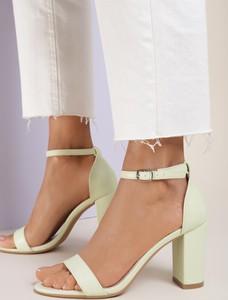Miętowe sandały Renee z klamrami