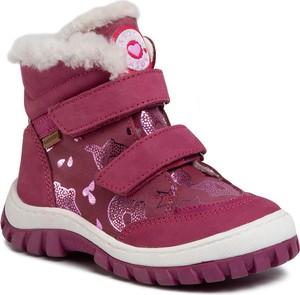 Różowe buty dziecięce zimowe eobuwie.pl