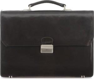 Czarna torebka Ochnik ze skóry do ręki matowa