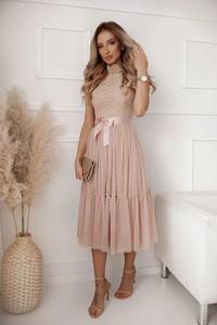 Sukienka Shopaholics Dream midi z długim rękawem