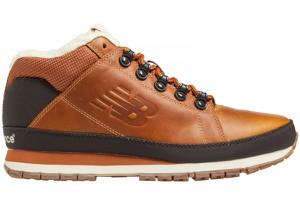 Brązowe buty New Balance w militarnym stylu