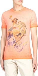 Różowy t-shirt Bob z nadrukiem z krótkim rękawem