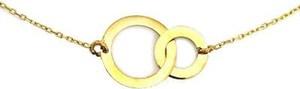 Lovrin Złoty naszyjnik 333 celebrytka dwa kółeczka 8kt