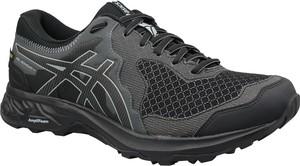 Czarne buty sportowe ASICS sznurowane w sportowym stylu z płaską podeszwą