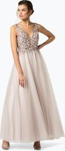 Sukienka Unique rozkloszowana maxi z dekoltem w kształcie litery v