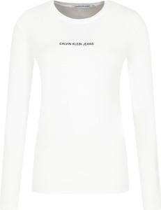 Bluzka Calvin Klein z okrągłym dekoltem