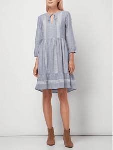 Niebieska sukienka Tom Tailor oversize w stylu casual z bawełny