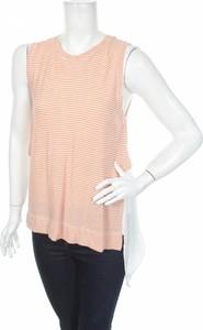 Pomarańczowa tunika ZARA bez rękawów w stylu casual