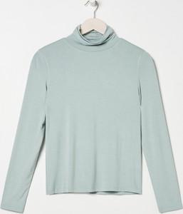 Bluzka Sinsay w stylu casual z długim rękawem z golfem