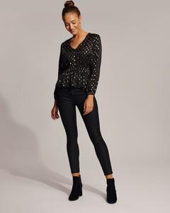 Koszula Diverse z tkaniny z długim rękawem w stylu glamour