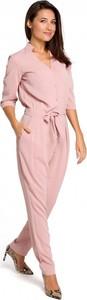 Różowy kombinezon Style z długimi nogawkami