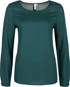 Zielona bluzka Q/s Designed By - S.oliver z długim rękawem