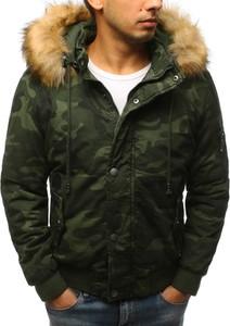 Zielona kurtka Dstreet w militarnym stylu