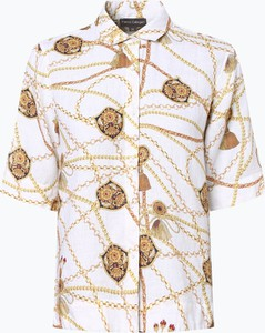Bluzka Franco Callegari z kołnierzykiem z lnu w stylu casual