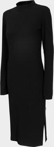 Czarna sukienka Outhorn z golfem z długim rękawem