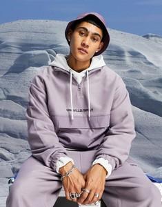 Fioletowa bluza Asos Unrvlld Spply w młodzieżowym stylu z polaru