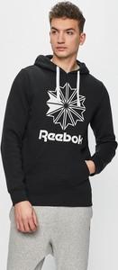 Czarna bluza Reebok Classic z nadrukiem z dzianiny